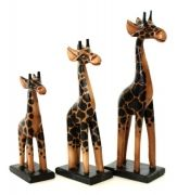...Giraffe - Light Painted Set of 3 Small