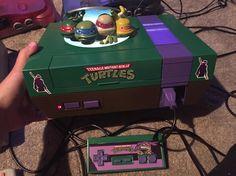 On instagram by gamerpeep07734 #retrogaming #microhobbit (o) http://ift.tt/1XqDkaD addition to my console collection: TMNT LED CUSTOM NES!  #NES #nintendo #nintendoentertainmentsystem #tmnt #teenagemutantninjaturtles #teenagemutantninjaturtle #ninja #green #turtles #pizza #videogames #videogame #videogameaddict #videogamecollector #videogamecollection #game #games  #retrogames #retrogame #retrogamer #nickelodeon #console #custom #donatello #michaelangelo #raphael #leonardo