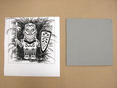 Good linocut tutorial. Need to brush up. For everything paper.