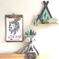 """How gorgeous is this little collection! Repost from @kissesforkye featuring their awesome ""Wild One"" print! Also including a @hellolucy15 little fox and a @pretty.in.pine teepee shelf! ⭐️ Just love it all!!!!"" Photo taken by @wonderlandinteriors on Instagram, pinned via the InstaPin iOS App! http://www.instapinapp.com (09/16/2015)"