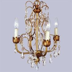 Livex Lighting 8193 4 Light Athena Mini Chandelier
