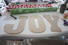 DIY Joy Pallet Sign - Re-Fabbed