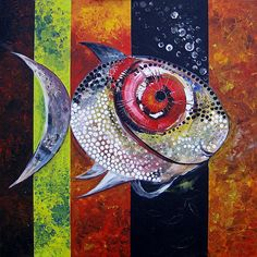 World-renowned Artist, J. Black And White Dishes, Black White, Two Fish, Fish Art, Applique Quilts, Animal Paintings, Stone Painting, American Artists, Printmaking
