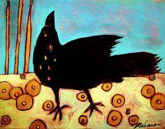 Klimt's-Black-Bird by madaramason, via Flickr
