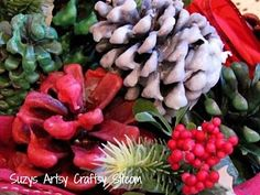 Easy to make wax covered pine cones!