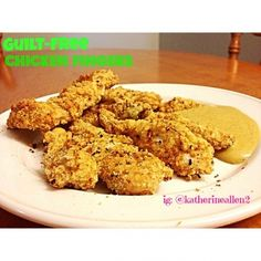 Ripped Recipes - Guilt Free Chicken Fingers - These absolutely suppressed any cravings I had for my deep-fried, childhood favourite - glad I don't have to give them up! Only takes 20 minutes, and 4 ingredients!