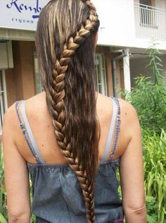 Beautiful Long Braided Hair- Just did this with my sisters hair