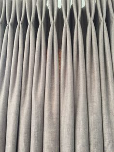Double pleat interlined curtains in Ian Mankin Newbury Hopsack linen - hand made by Victoria Clark Interiors.