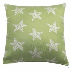 "18"" X 18"" Starfish Tropique Outdoor Pillows Made From Durable Polypropylene Fabric"