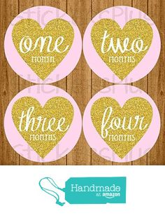 Baby Girl Month Stickers Monthly Baby Milestone Stickers Pink Gold Glitter Effect Heart Vintage Script from Angies StickersPlus http://www.amazon.com/dp/B01AIOPZSE/ref=hnd_sw_r_pi_dp_uhMVwb1B7DAMH #handmadeatamazon