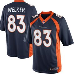 Wes Welker Limited 83 Player Men's Short Sleeve T-Shirt 2016-17 Season Game Jerseys Navy Size XXXL(56) -- Awesome products selected by Anna Churchill