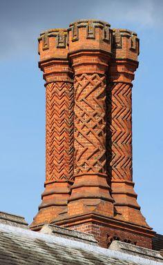 Chimneys: Hampton Court Palace, England