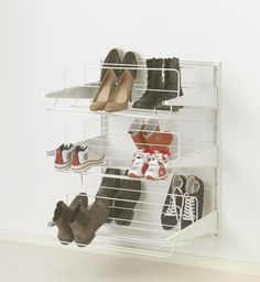 Get your shoes off of the floor! You can put them on the wall instead with our versatile ALGOT storage system.