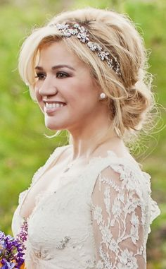 wedding hairstyle for a round face - Google Search