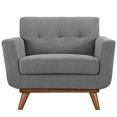 ENGAGE UPHOLSTERED ARMCHAIR IN WHEATGRASS - Mocofu
