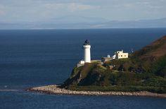 ISLAND DAVAAR lighthouse .Campbeltown Loch .Peninsula of Kintyre.Scotland