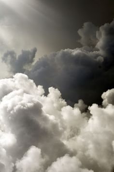 clouds. Shades of the sky……….FLUFFY CLOUD WHITE …..AND, DEEP WOOL GRAY…….TWO OF…