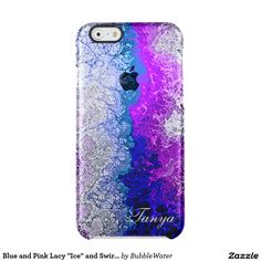 """Blue and Pink Lacy """"Ice"""" and Swirls iPhone 6 Case Uncommon Clearly™ Deflector iPhone 6 Case"""