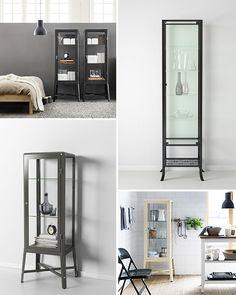 decorating with glass display cabinets / sfgirlbybay / sfgirlbybay