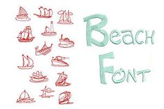 Free Brother Embroidery Designs   Redwork Boats Machine Embroidery Designs Free Font Brother Formats CD ...