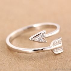 925 Sterling Silver Cupid Arrow Couple Opening Ring only $14.99 in ByGoods.com!