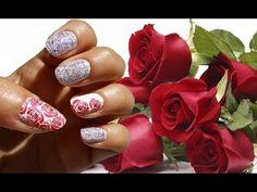 Nail art primaverile con rose!