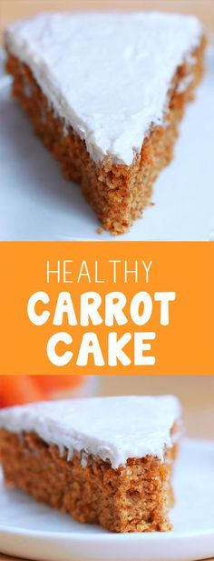 Super Moist Classic Carrot Cake – With a secretly healthy cream cheese icing… This is hands-down my favorite carrot cake recipe, & it's even good for breakfast! Covered Katie… chocolatecoveredk… We are want to say thanks if you like to share this post. Vegan Sweets, Healthy Sweets, Healthy Baking, Vegan Desserts, Delicious Desserts, Dinner Healthy, Healthy Carrot Cakes, Healthy Cake Recipes, Healthy Deserts