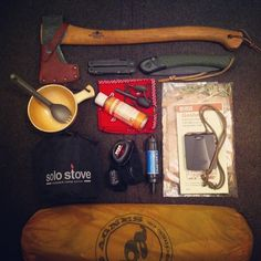Everything one needs to go camping comfortably - I would trade the axe for a chopping machete.