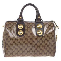 Gucci Babouska Monogram Large Boston Bag - Buy & Sell - LC