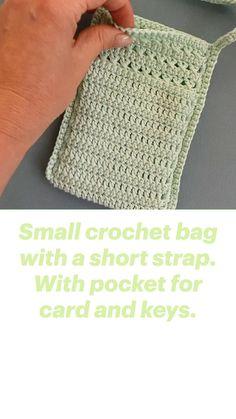 Knit Or Crochet, Crochet Stitches, Crochet Hooks, Crochet Summer, Crochet Purses, Knitting Patterns, Crochet Patterns, Easy Sewing Patterns, Bag Patterns To Sew