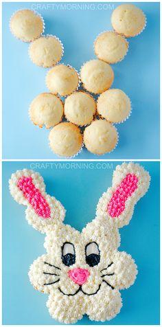 Pull Apart Cupcake Cake, Pull Apart Cake, Easter Deserts, Easter Treats, Easter Food, Easter Snacks, Easter Baking Ideas, Cute Easter Desserts, Easter Eggs