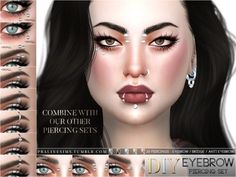 The Sims Resource: Eyebrow Piercing Set by Pralinesims • Sims 4 Downloads