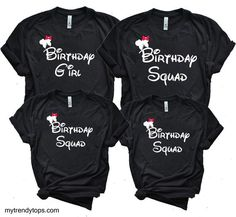 Birthday Squad T Shirts Party Group Shirt