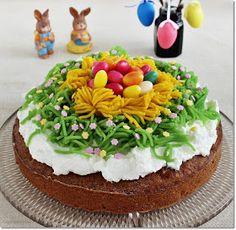 Gizi-receptjei. Várok mindenkit.: Ananászos répatorta. Birthday Cake, Easter, Food, Birthday Cakes, Easter Activities, Essen, Meals, Yemek, Cake Birthday