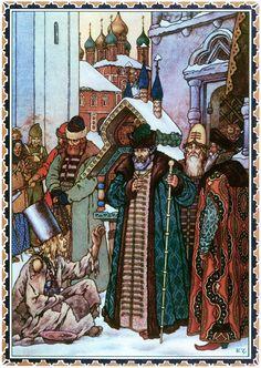 Illustrations for Boris Godunov by Boris Zworykin - Old Samovar