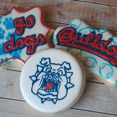 Fresno State Bulldog cookies