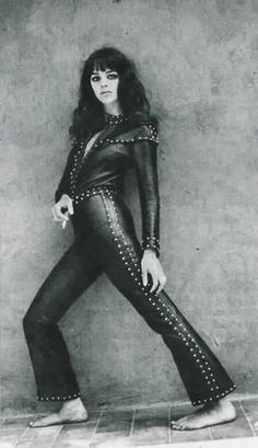 """tina-aumont: """" Tina Aumont pictured by Angelo Frontoni. 60s And 70s Fashion, Retro Fashion, Vintage Fashion, Vintage Style, Womens Gothic Boots, Dior, Studded Jacket, Vintage Leather Jacket, Famous Women"""