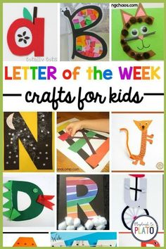 Teaching Pre-K or Kindergarten kids the letters of the alphabet can be challenging but why not try out these letter of the week crafts that are just perfect for an alphabet unit or other parts of your lesson plans? It's a fun way to get your early learners to learn and remember the alphabet! #earlychildhoodeducation #teacherresources #prek #kindergarten #preschool Kindergarten Centers, Literacy Centers, Fun Arts And Crafts, Crafts For Kids, Playdough To Plato, Letter Of The Week, Early Childhood Education, Pre School, Teacher Resources