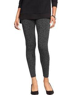 Old Navy Gray Leopard Print Womens Fashion Leggings