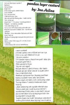 Image result for tepung hoen kwe recipe pandan layer