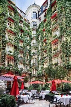 Courtyard of the Plaza Athenee, Paris