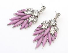 Vintage Charms Stud Earrings Purple $9.99 kromecollection.com