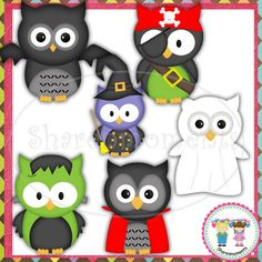 Halloween Owls  Digital Clipart for by SharenmomentsClipart, $2.00