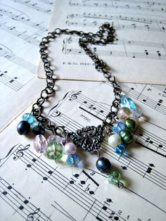 Baroque Necklace - so pretty! Romantic and a little funky. Would look great with a white tee and pair of jeans.