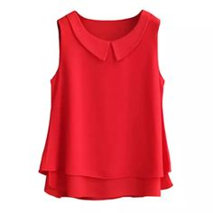 2018 Summer Top Women Chiffon Blouse Shirts Casual Tops Plus Size Female Loose Sleeveless Thin And Light Blusas Finas Mode Outfits, Fashion Outfits, Fashion Clothes, Fashion Accessories, Clothes Women, Dress Fashion, Fashion Ideas, Plus Size Casual, Chiffon Shirt