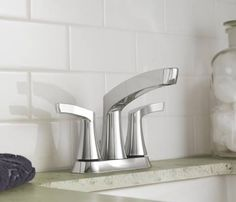 Danika chrome two-handle high arc bathroom faucet - 84633 - Moen