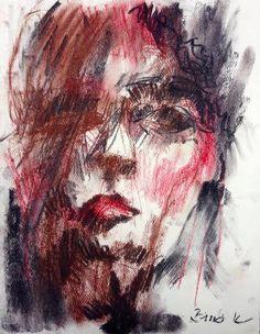 Konrad Biro art charcoal chalk