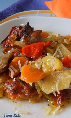 Τουρλού φούρνου με πολύχρωμα λαχανικά | Tante Kiki