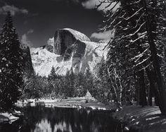 Half Dome, Merced River, Winter, Yosemite National Park, 1938, Ansel Adams
