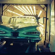 59 Chevy Impala in the assembly line back in the day-http://mrimpalasautoparts.com
